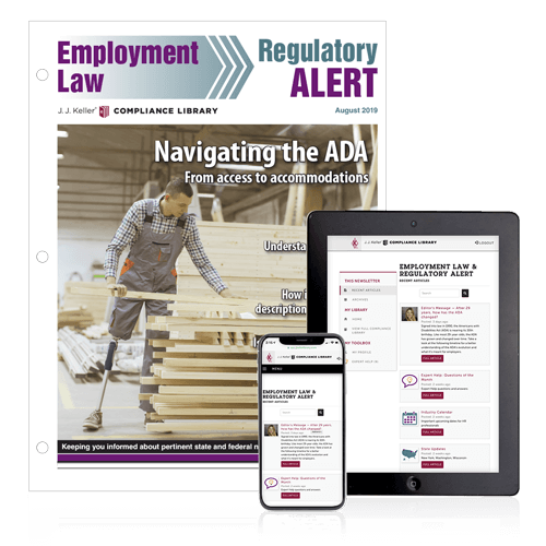 Employment Law and Regulatory Alert Newsletter