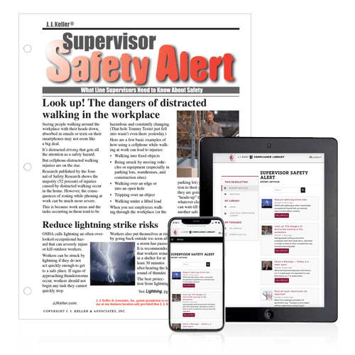Supervisor Safety Alert Newsletter
