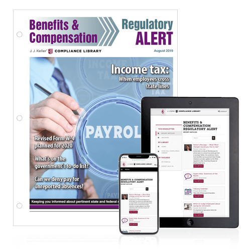 Benefits & Compensation Regulatory Alert