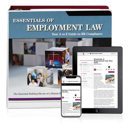 Essentials of Employment Law, Plus State