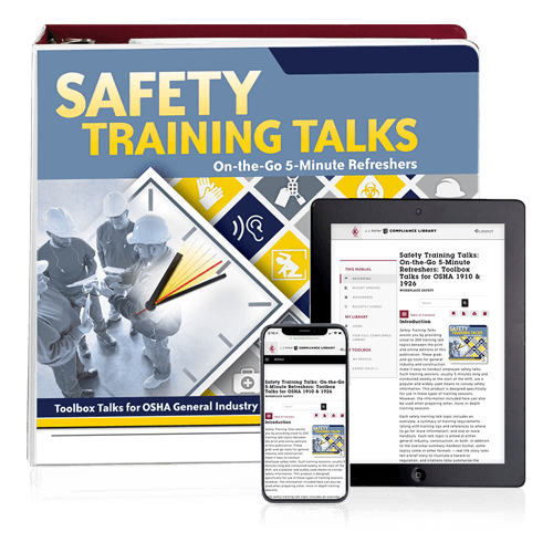 Safety Training Toolbox Talks Manual